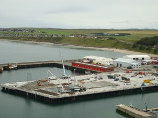 Scrabster Harbour Lay Down Area. All concrete pouring at the Scrabster Harbour Lay Down Area